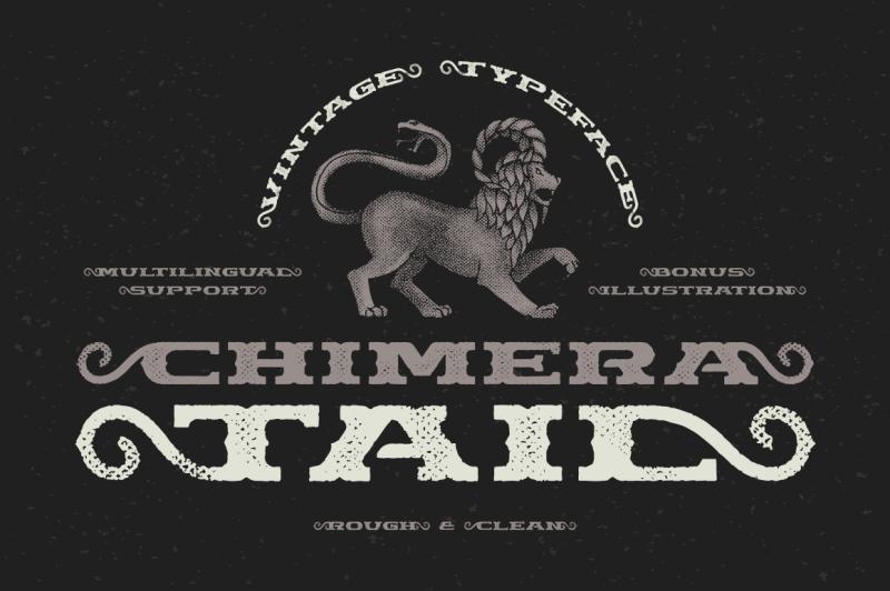 chimera-tail-font-illustration
