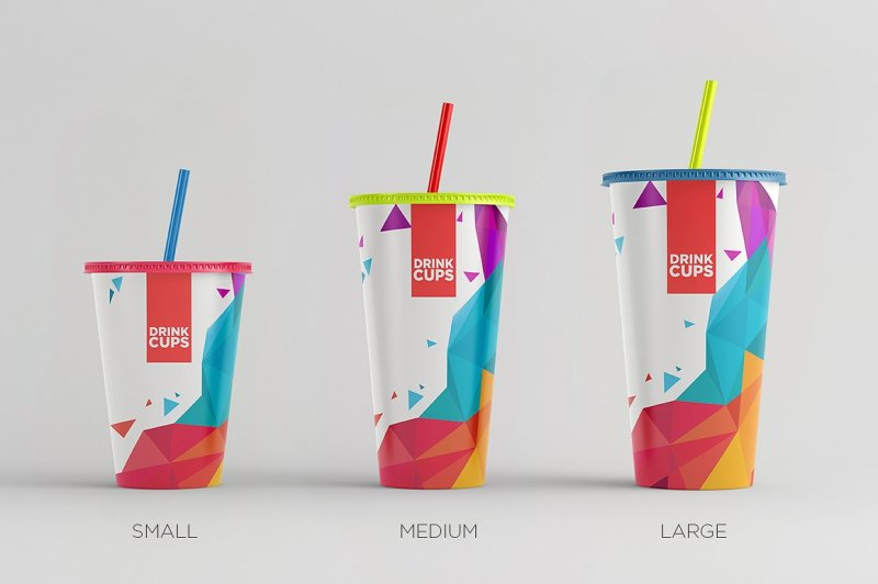 Free Drink Cups Mock-Up (PSD Mockups)