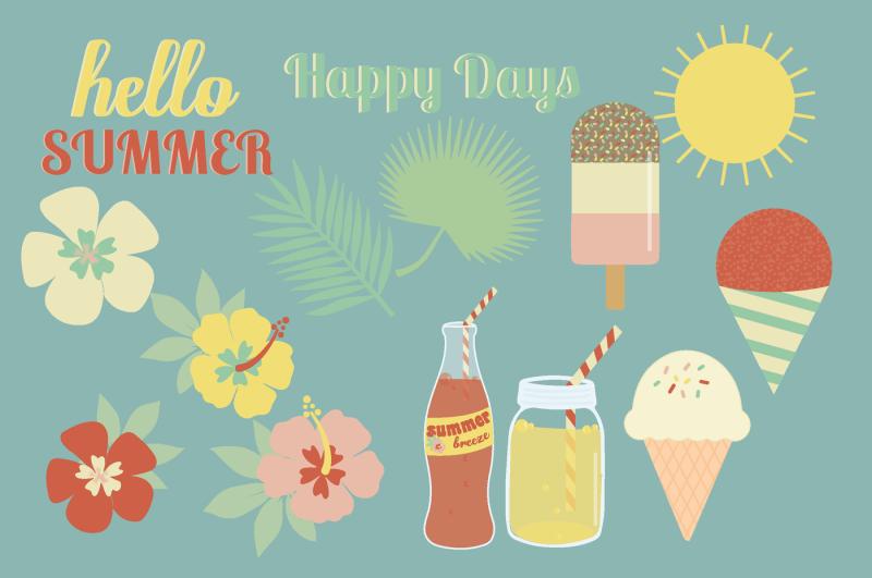 retro-summer-clipart