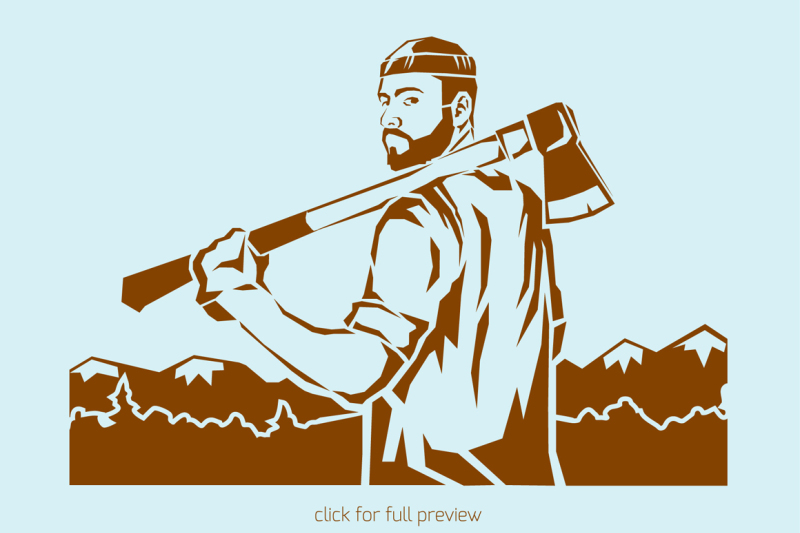 lumberjack-icons-set