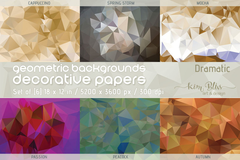 polygon-geometric-backgrounds-decorative-papers-dramatic