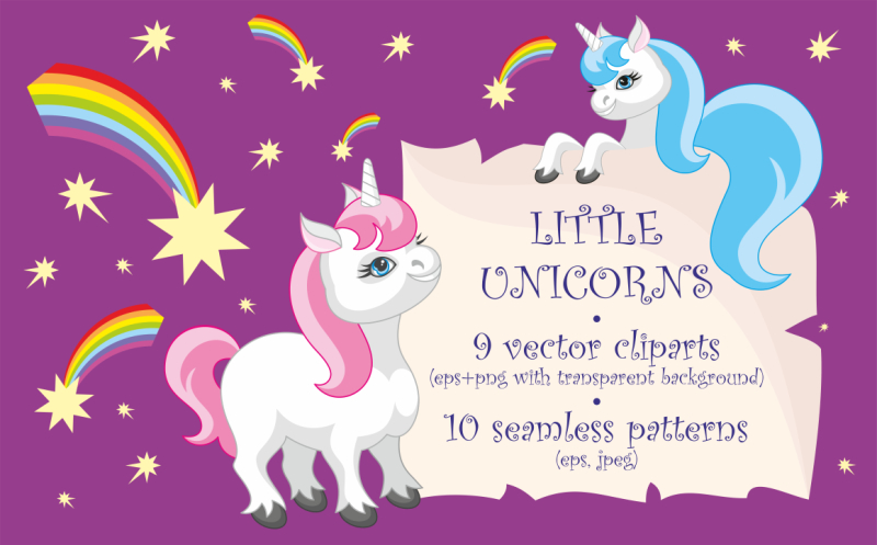 little-unicorns-vector-clip-arts-and-patterns