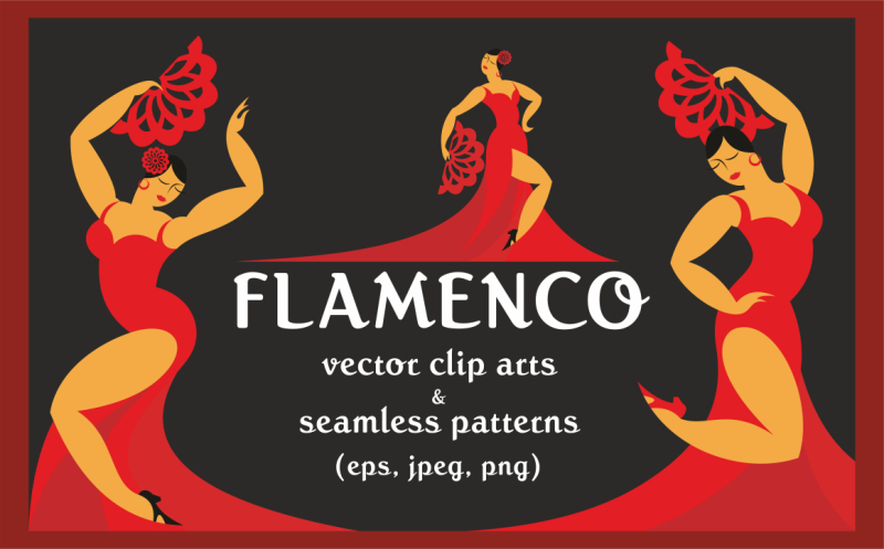 flamenco-vector-clip-arts-and-patterns