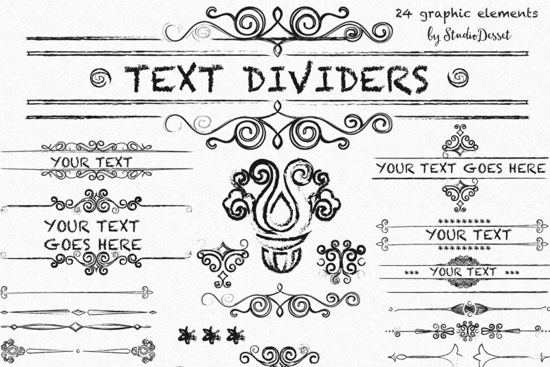 text-dividers-grunge-cliparts