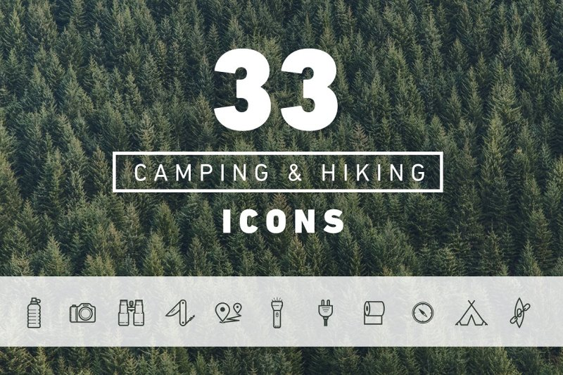 33-vector-hiking-and-camping-icons