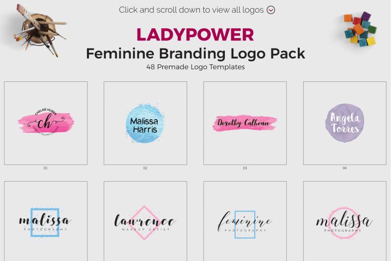ladypower-feminine-branding-logo-pack