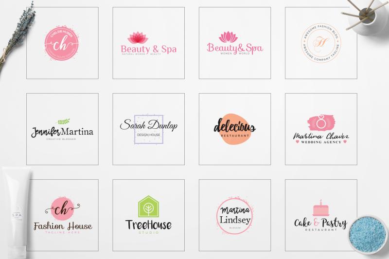 140-feminine-branding-logo-bundle
