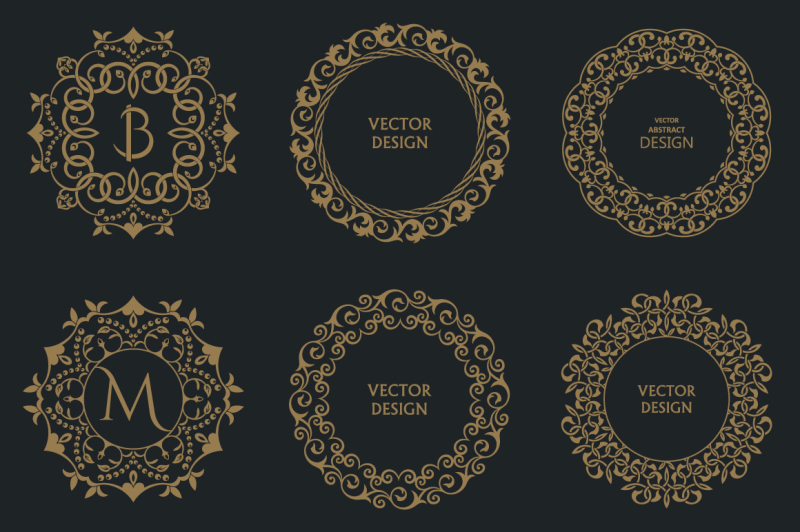 monogram-decorative-vector-frames