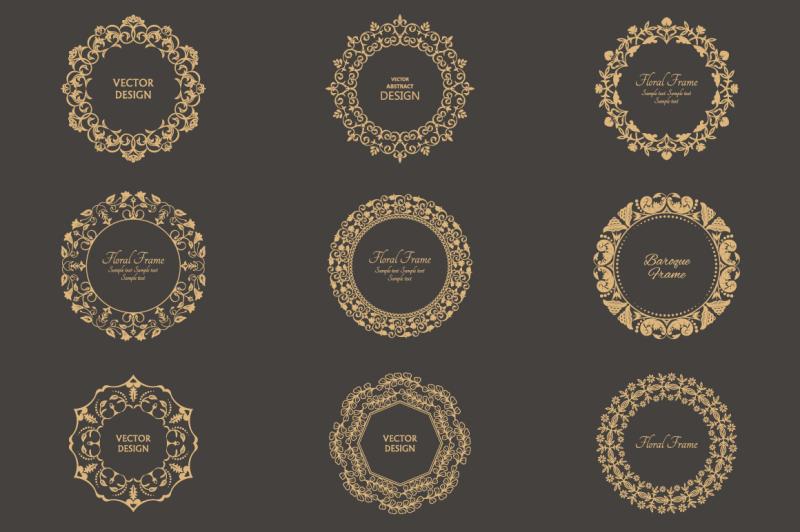 monogram-floral-vector-frames
