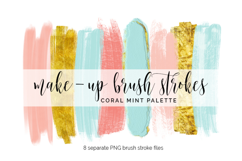 brush-strokes-clipart-coral-mint