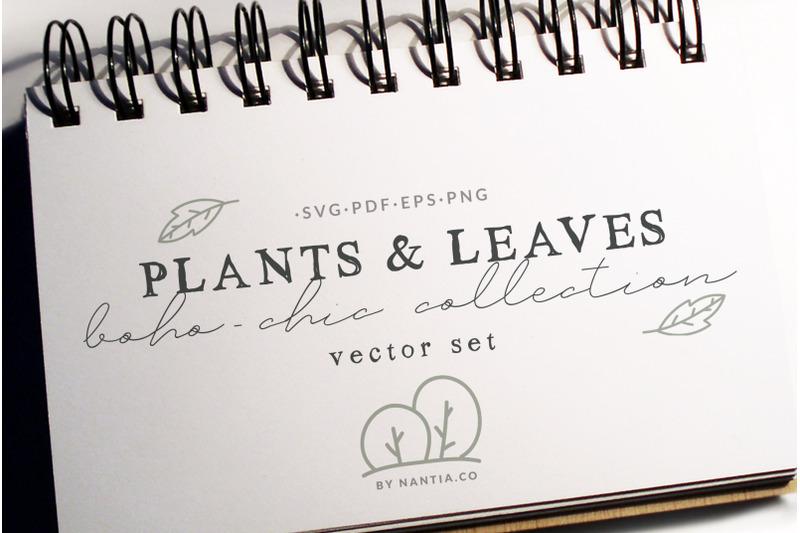 100-boho-chic-plants-vectors