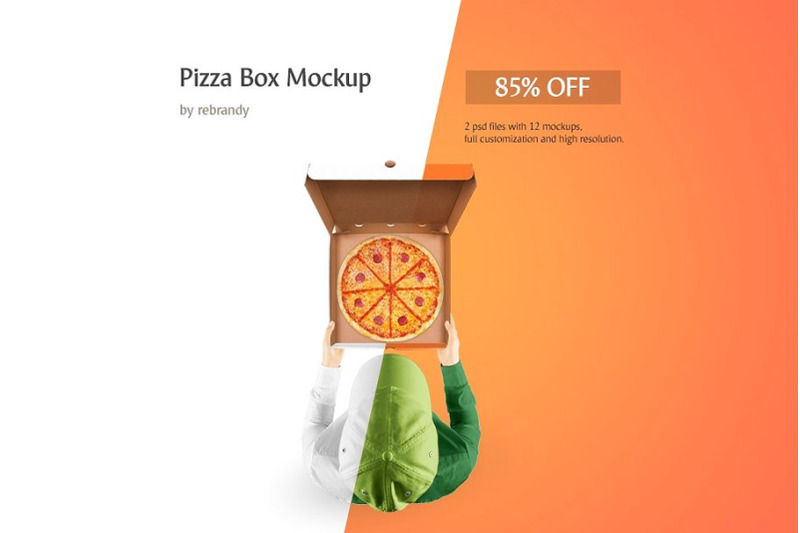 Free Pizza Box Mockup (PSD Mockups)