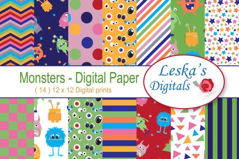 cute-monsters-digital-paper