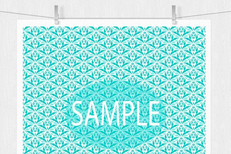 aqua-blue-damask-digital-paper-patterns