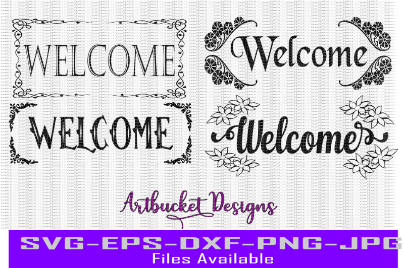 welcome-design-pack-of-4-cutfiles