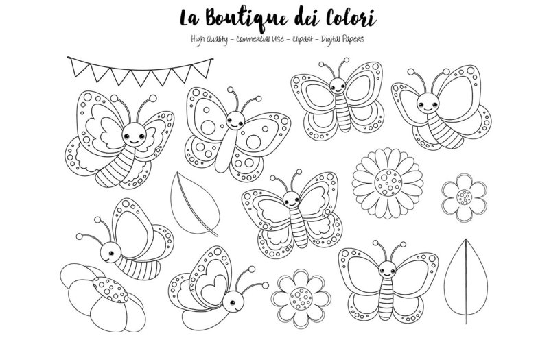 cute-butterfly-outlines