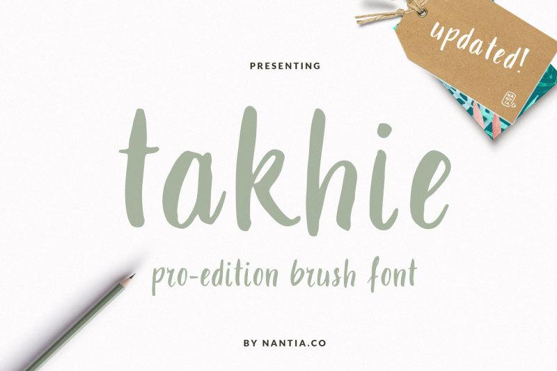 takhie-pro-multilingual-brush-font