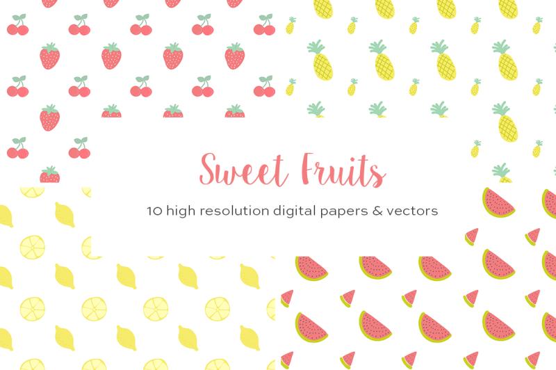 summer-fruits-vector-patterns