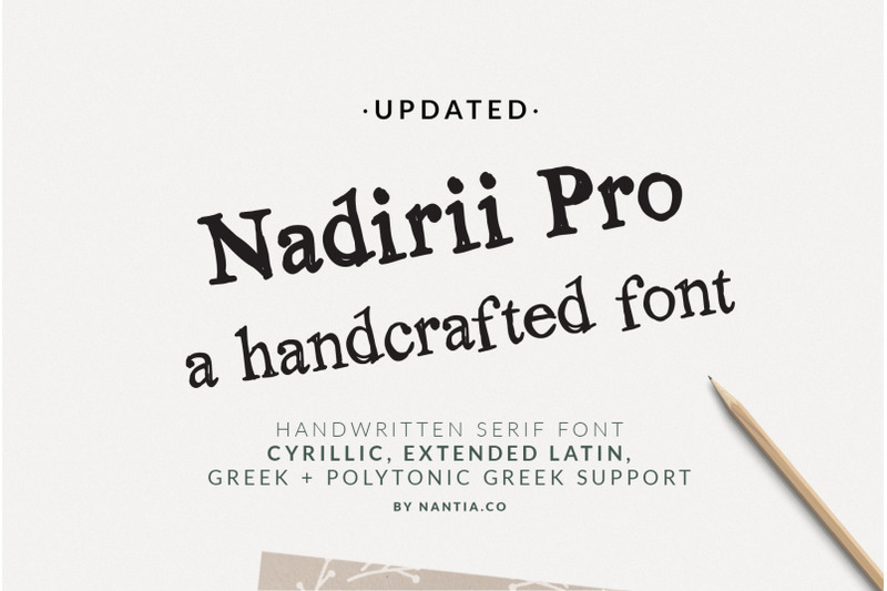 nadirii-font-handcrafted
