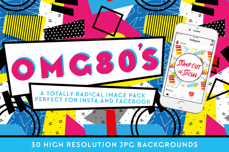 omg80s-social-background-pack
