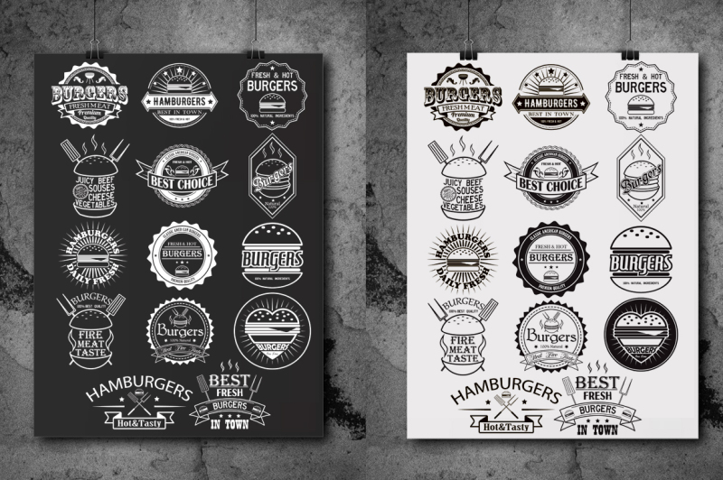 burgers-and-barbecue-logos-bundle-grill-vector-labels