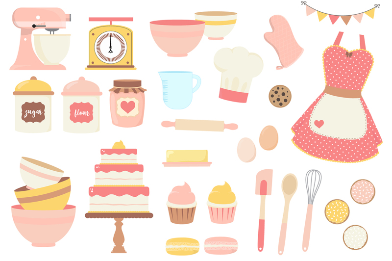 pink-and-yellow-baking-clipart