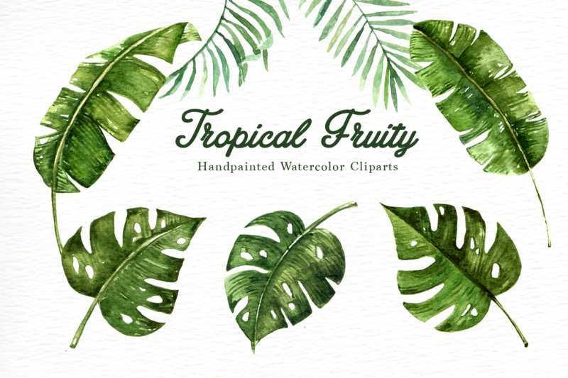 tropical-fruity-watercolor-clipart