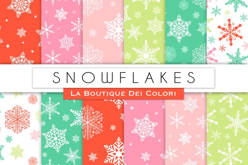 christmas-snowflake-digital-papers
