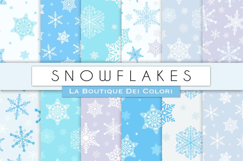 winter-snowflake-digital-papers
