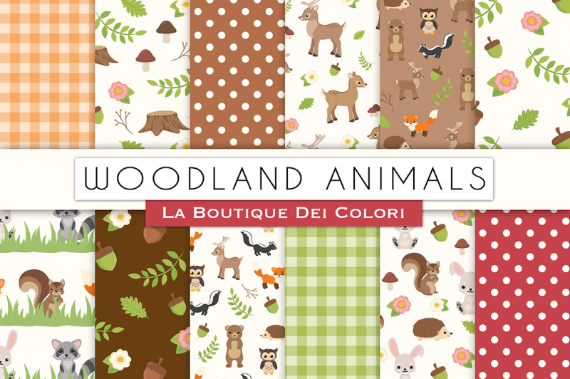 woodland-animals-digital-papers