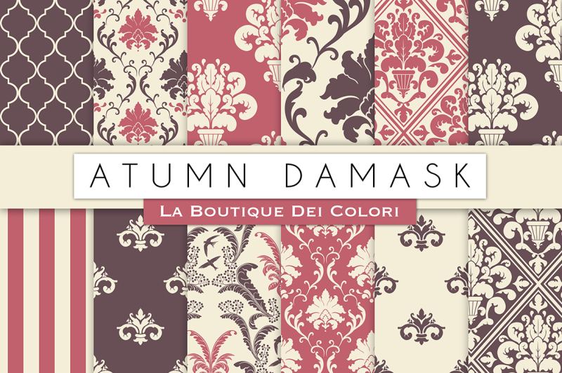 autumn-damask-digital-papers