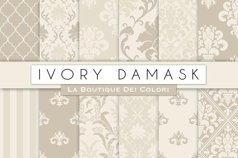 ivory-damask-digital-papers