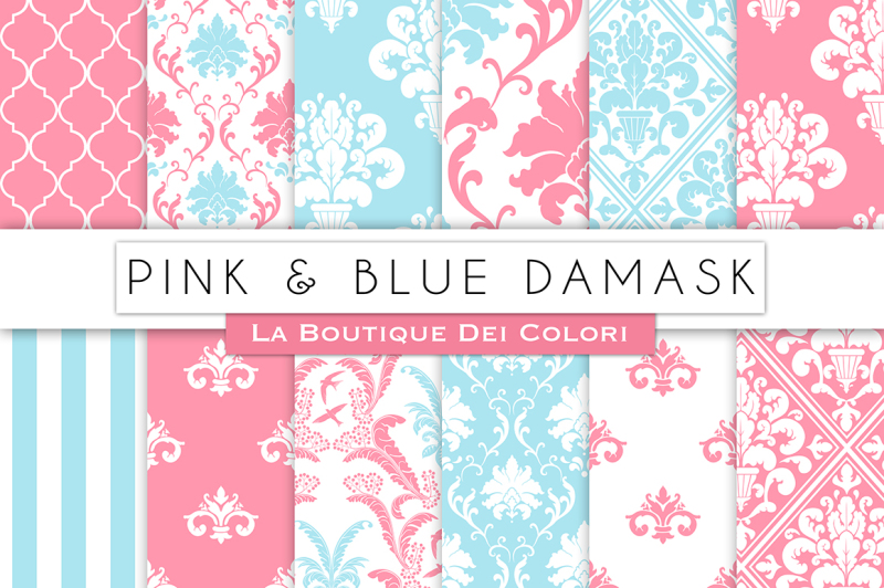 pink-and-blue-damask-digital-papers