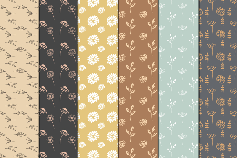 hand-drawn-floral-digital-papers