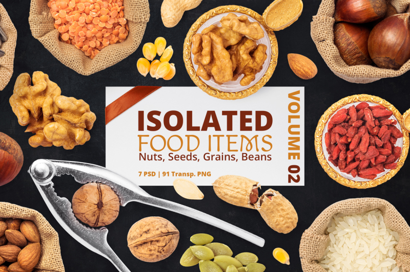 Free Isolated Food Items Vol.2 (PSD Mockups)