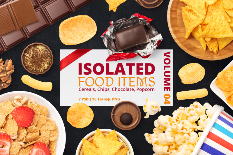 Free Isolated Food Items Vol.4 (PSD Mockups)