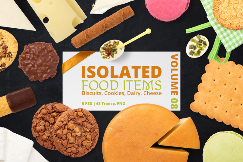 Free Isolated Food Items Vol.8 (PSD Mockups)