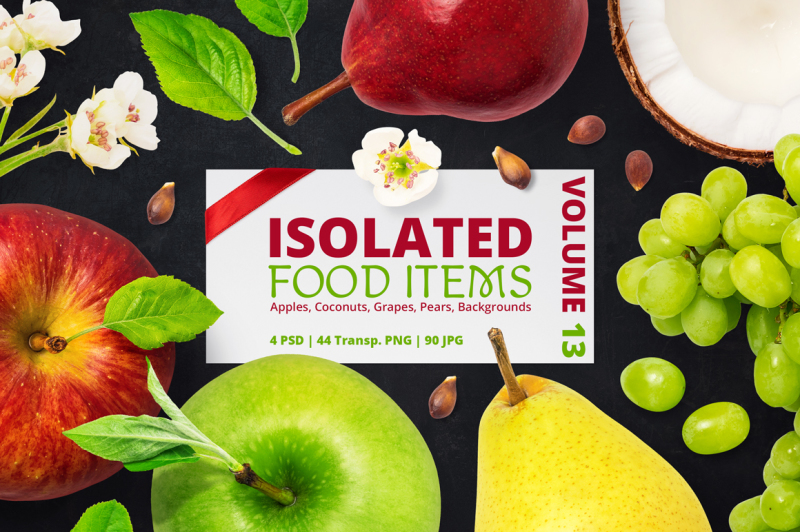 Free Isolated Food Items Vol.13 (PSD Mockups)