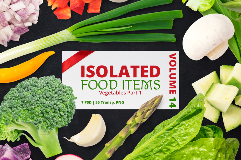 Free Isolated Food Items Vol.14 (PSD Mockups)