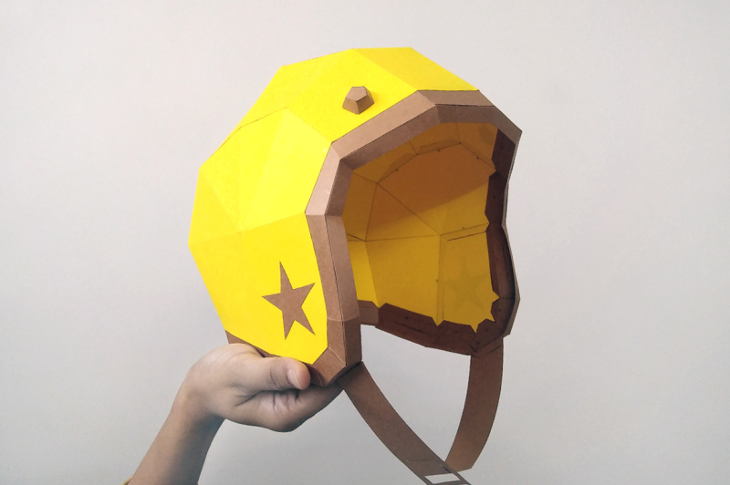 diy-vintage-style-motorcycle-helmet-3d-papercrafts
