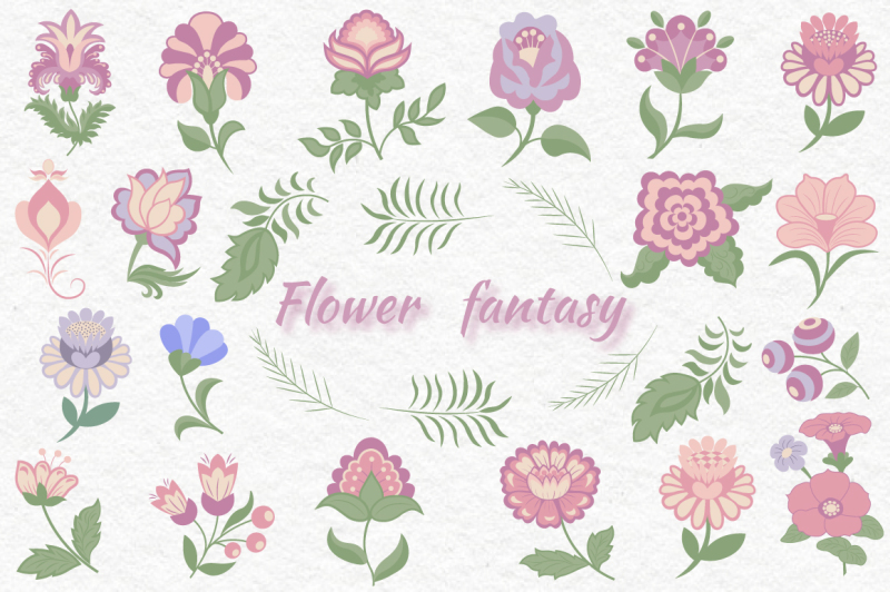 flower-fantasy-vector-set