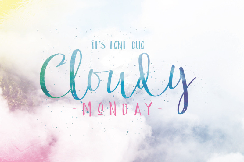 cloudy-monday-font-duo