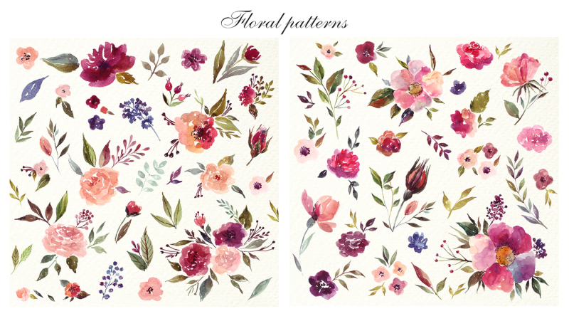 230-watercolor-floral-elements