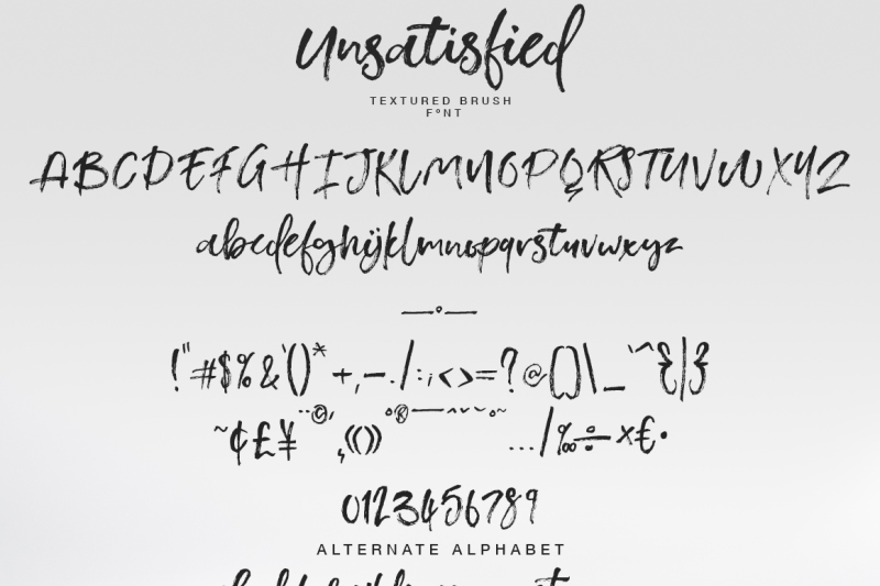 unsatisfied-brush-font