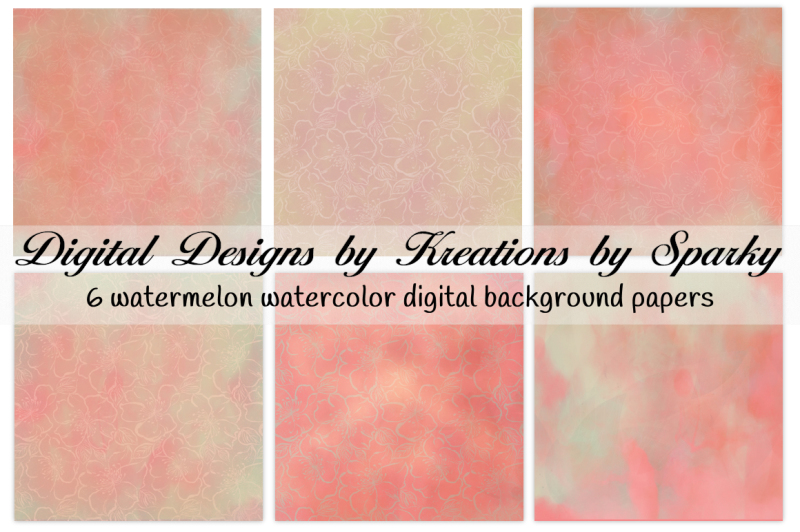 watermelon-watercolors-digital-background-papers