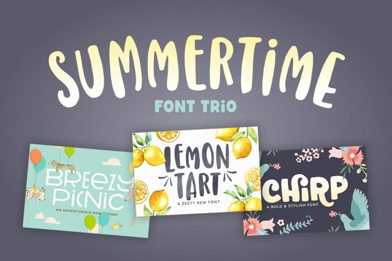 summertime-font-trio