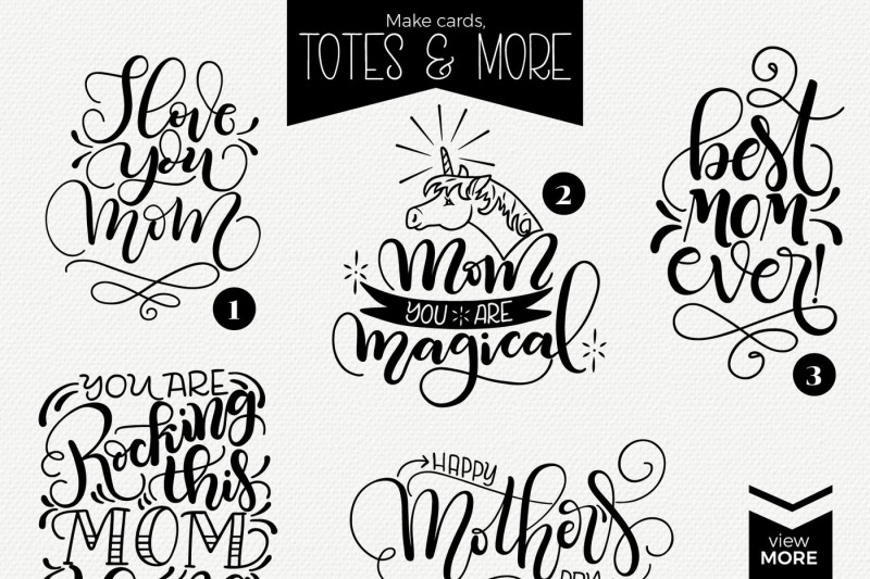 The Best Mom Lettering Quote Bundle By Joy Kelley Thehungryjpeg Com
