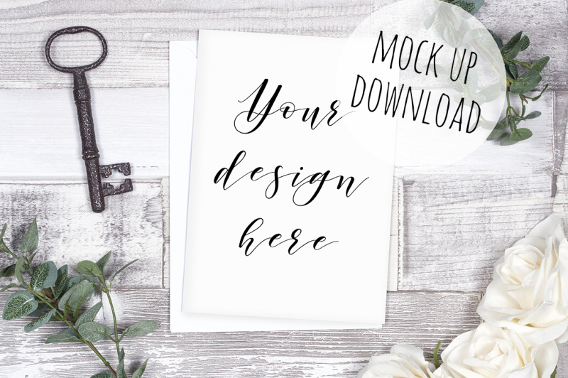 Free Rustic Card Mock Up Photography (PSD Mockups)