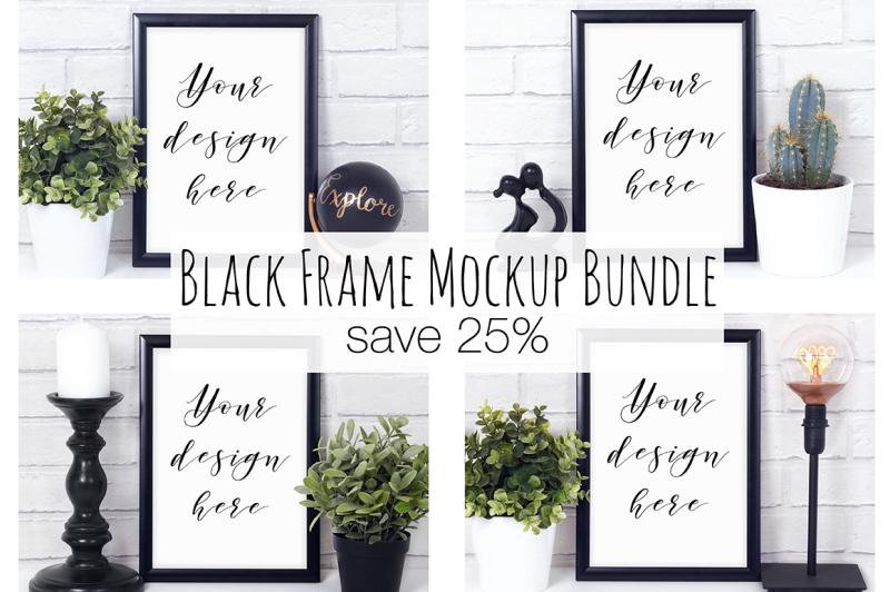 Free 25% Off Black Frame Mockup Bundle (PSD Mockups)