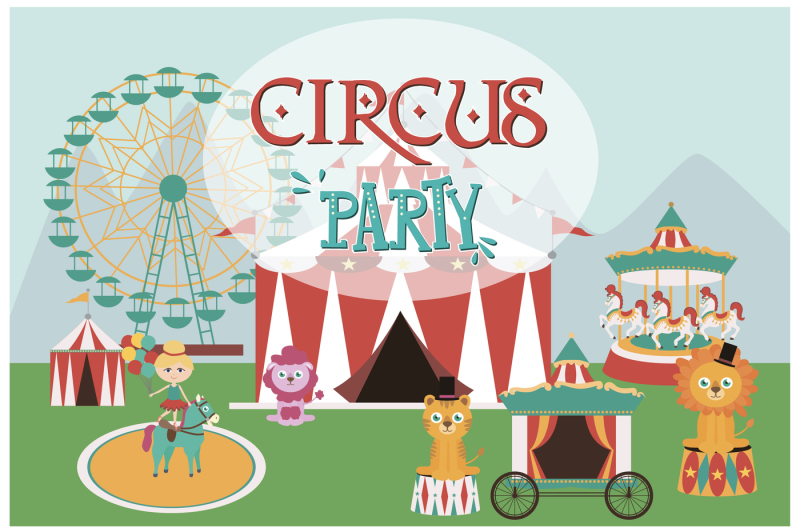circus-icons-and-cards-templates